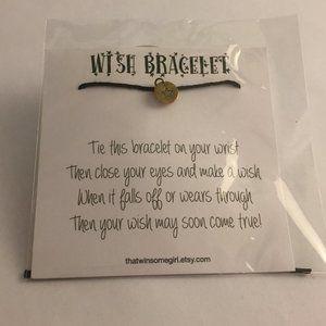 NWT, Wish Bracelet with Metal Star Charm